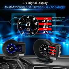 Car Auto OBD2 Gauge HUD Head-Up Digital Display Boost Data Scan Tool VLT/RPM/MAP