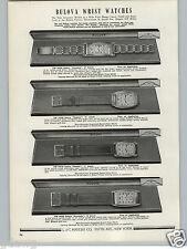 1941 PAPER AD Bulova Wrist Watch 21 17 15 Jewels It's Curved President Emperor
