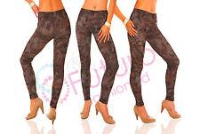 Ladies Leggings Full Lenght Faces Print Pants Trousers Sizes 10 - 16 NK03607