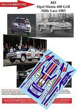 DÉCALS 1/24 réf 883 Opel Manta 400 GrB Mille Lacs 1983