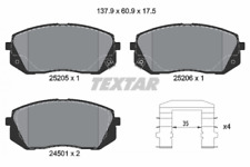 1 Satz Textar Bremsbelag VA Hyundai ix35 i40 Tucson Kia Soul Sportage - 2520501