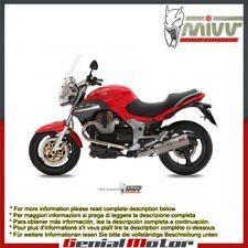 Mivv Exhaust Muffler Oval Titanium Carbon Cap Moto Guzzi Breva 1100 2005 > 2011