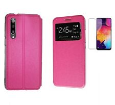 Funda Samsung Galaxy A50/A30S (6.4) ROSA Libro ventana + Cristal Completo