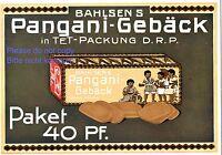 Bahlsen Pangani Gebäck Reklame 1910 in Farbe schwarze Kinder Keks afrikanische
