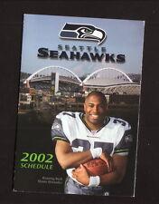 Shaun Alexander--2002 Seattle Seahawks Schedule--Home Depot