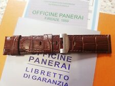 Panerai Brown Leather Strap With Deployment Buckle 24mm Band