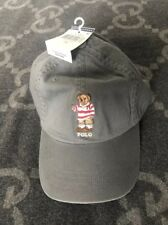 NEW WITH TAGS RALPH LAUREN POLO HAT TEDDY BEAR ADJUSTABLE STRAP BACK CAP GRAY