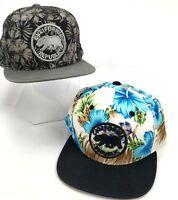 Top Level California Republic Bear Hats Caps Lot of 2 Flat Bill Snapback  Floral ca41d6400f0f