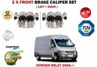 FOR CITROEN RELAY 2.2 3.0 HDI 2006->NEW 2X FRONT LEFT + RIGHT BRAKE CALIPERS SET