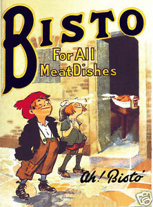 The Bisto Kids Metal Wall Sign (3 sizes - Small / Large and Jumbo)