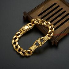 Gold Stainless Steel Casting Bracelet Link Men Boy jewelry Hot Sell High Quality