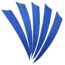 "Archery Fletches 5"" Shield Cut Sky Blue Traditional Feather Fletching RW - 50PCS"