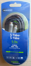 5M, HQ S Video Plug to S Video Plug Cable,SVHS 4 Pin Mini Din DVD Camcorder Lead