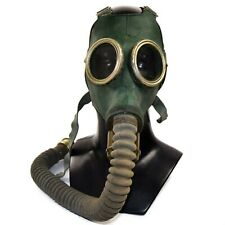 Cold war Soviet Russian military gas mask GP-4 with hose Green rubber MEDIUM NEW