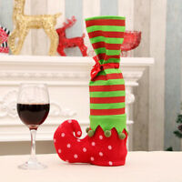 Christmas bottle cover wine elves sock boot table home xmas party decor suppHFZT