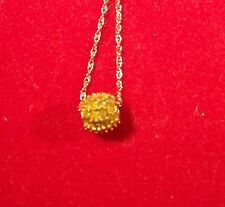 """Yellow Diamond """"Lemon Cupcake"""" Earring, Necklace & Ring Set in Sterling Silver"""
