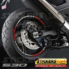 Kit Adesivi Cerchi Moto Ruote TMAX 530  (RACING 4)  T-MAX 530 T MAX 530 strisce