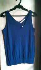 OLD NAVY WOMEN'S KNITTED SLEEVELESS TOP-NAVY, Size Small