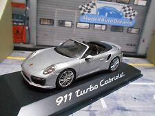 PORSCHE 911 991 Turbo Cabriolet Cabrio silber silver met Minichamps 1:43