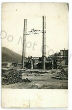RPPC Factory Construction RIDDLESBURG PA Bedford County Real Photo Postcard