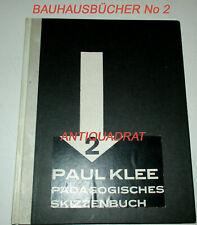 1925 Bauhausbücher 2 EA Paul Klee Pädagogisches Skizzenbuch Gropius Moholy-Nagy