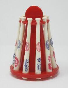 Vintage 1970's National League Louisville Slugger Baseball Mini Bat Coin Bank