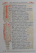 JOU LOUIS (1881–1968) : Page originale de Psyché et Cupidon, composée tirée JOU