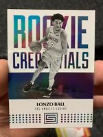 2017-18 Panini Rookie Credentials Lonzo Ball #5 Los Angeles Lakers
