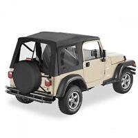 Jeep Wrangler TJ Soft top Super top Hood Black Denim Bestop 96-06