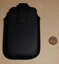 Black Vertical Swivel Holster Case Pouch Belt Clip For Blackberry