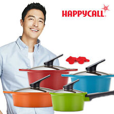 Happycall Hard Anodized Ceramic Nonstick Pot Set, Cookware 4 Set /Assorted Color