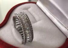 Ladies Jewellery Sapphire Eternity Engagement Ring Gift Valentines Present Bride