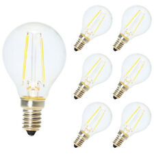 6X E14 Nicht Dimmbar LED Filament Tropfen Glühbirne 2W 6500K Kaltweiß