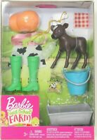 Barbie Sweet Orchard Farm Accessory Set - Cow Calf Feeding Time NEW