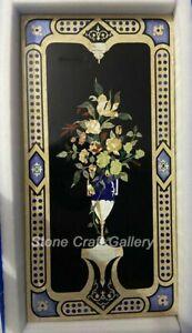 "48"" x 24"" Marble Table Top semi precious stones Inlay Home decor"