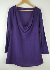 Eileen Fisher Draped Neck Baby Alpaca Cowl Neck A Line Sweater Tunic L/PL $248