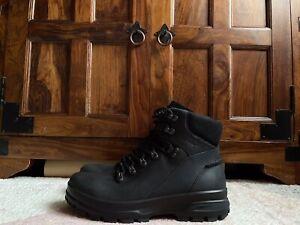 Men's ECCO Track Hydromax Mens Leather Boots UK8.5 EU42 Black