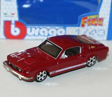 "BURAGO-ford mustang GT (rouge) 1964 - ""Street Fire Modèle"" échelle 1:43)"