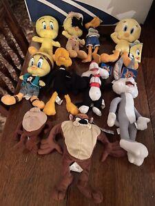 Looney Tunes X10 Bundle Job Lot Soft Toy Plush Taz Daffy Duck Tweety Pie Bugs
