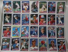 1989 Topps Montreal Expos Team Set of 29 Baseball Cards