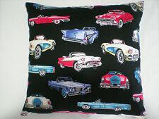 "Rock n Roll/Rockabilly ""50s Vintage Cars"" Cushion/Pillow Case Cover. Car Hot Rod"
