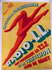 Original Vintage Poster Radio LL by Favre ca. 1940