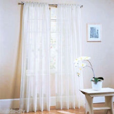 1Sheer Solid Color Glass Panel Voile Drape Balcony Party Wedding Window Curtains