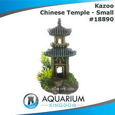 #18890 Kazoo Chinese Temple w Plants Small - Aquarium Tank Ornament Decoration