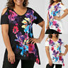 Summer Womens Casual Plus Size Short Sleeve Floral Print T-shirt Tops Blouse Tee