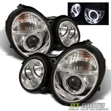 2000-2002 Mercedes Benz W210 E320 E430 Dual Halo Projector Headlights Left+Right (Fits: Mercedes-Benz)