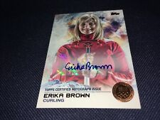 Erika Brown Curling Olympics 2014 Topps Bronze Autograph Card 01/50