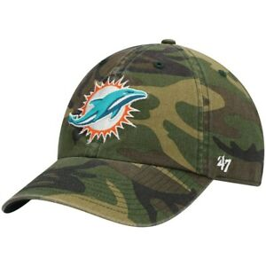 Miami Dolphins '47 Camo Clean Up Adjustable On Field Cotton Hat NFL