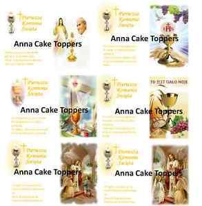 Pierwsza Komunia Święta Opłatek na Tort Książka First Holy Communion Book-Shape