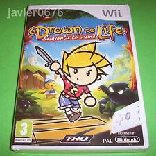 DRAWN TO LIFE REINVENTA TU MUNDO NUEVO Y PRECINTADO PAL ESPAÑA NINTENDO Wii